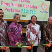First FSC shipment with Perhutani