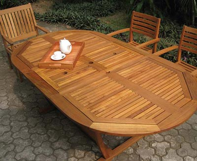 Teak Extension Table