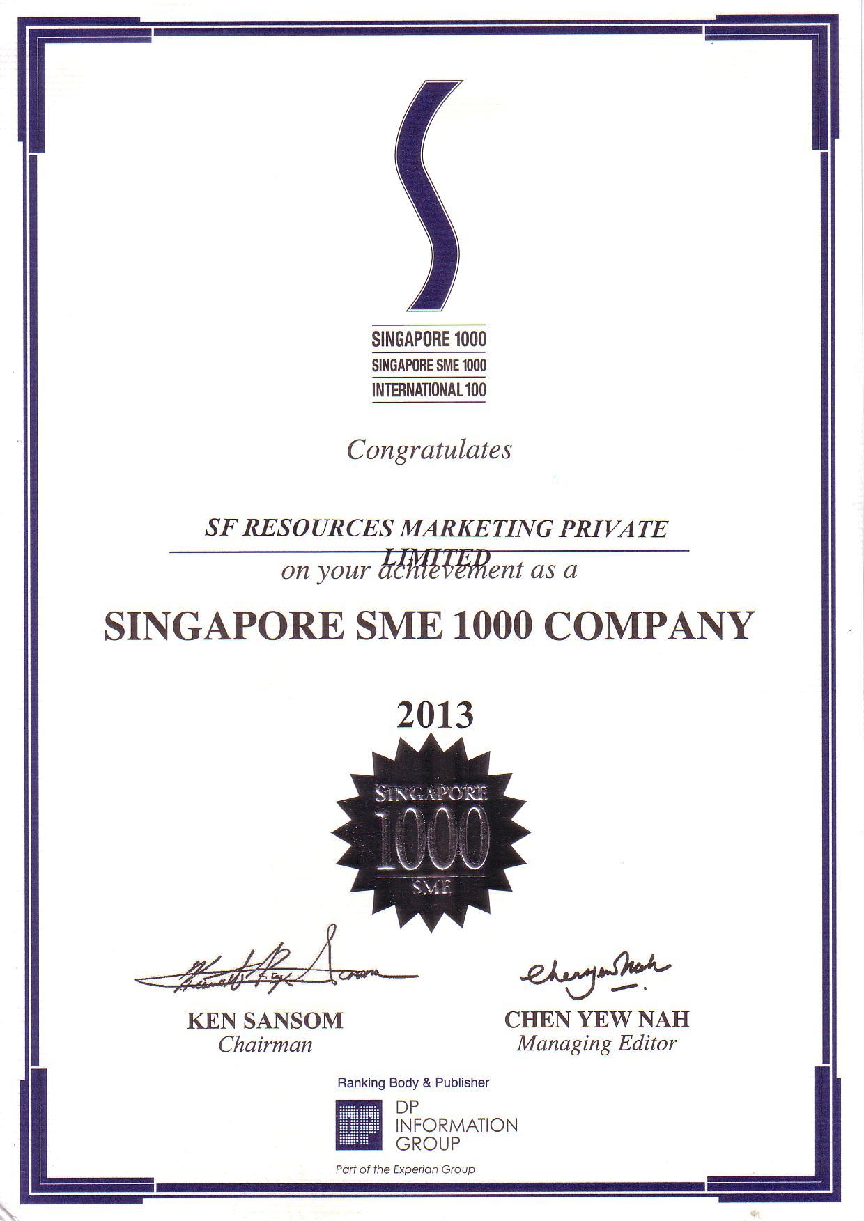 SME 1000 Ranking